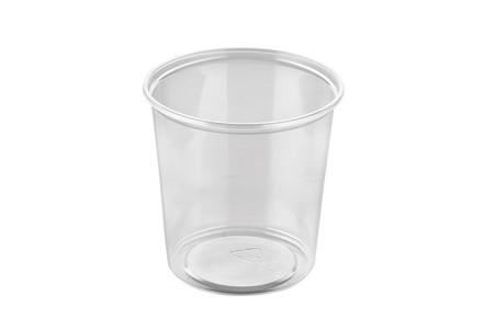 Plastbæger PP klar rund 500ml  Ø101mm 1000stk/pak