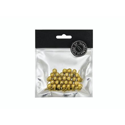 Kortnåle EDGE 30x20mm guld 30stk/pak