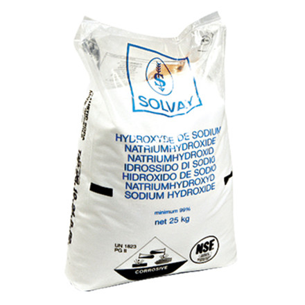 Natriumhydroxid/Ætsnatron 49 stk 25 Kg  (Kaustisk Soda)