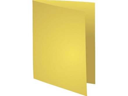 100 stk Kartonmapper uden klapper A4 220g  gul