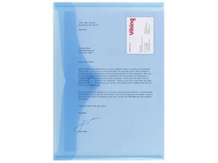 5 STK PLASTMAPPE PP OFFICE DEPOT BLÅ A4 - C1246571