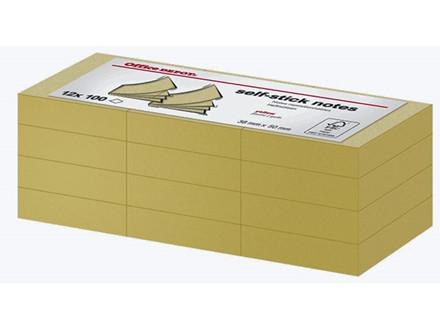12 BLOK NOTES OFFICE DEPOT GULE 38X50MM