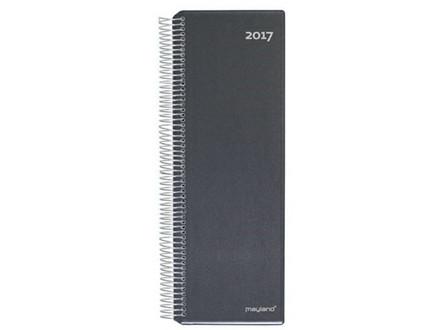 SPIRALNOTERINGSKALENDER SORT 10X32CM 1 D
