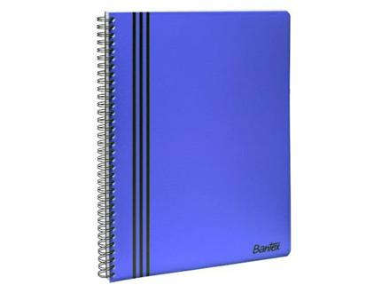 10 STK KOLLEGIEBLOK M/SPIRALRYG A4 LINJE - C900398