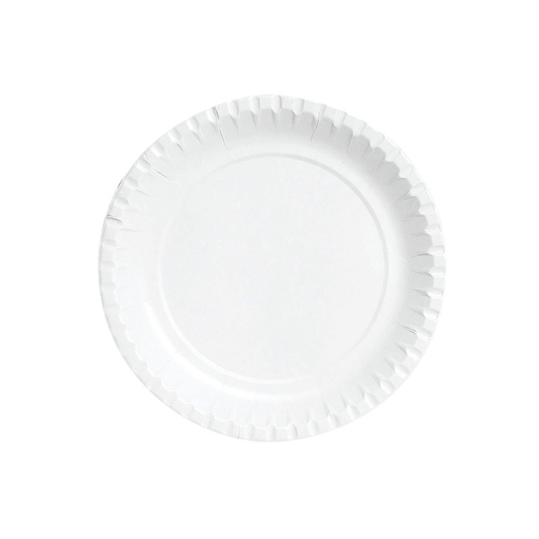 Tallerken pap hvid 18 cm 100 stk