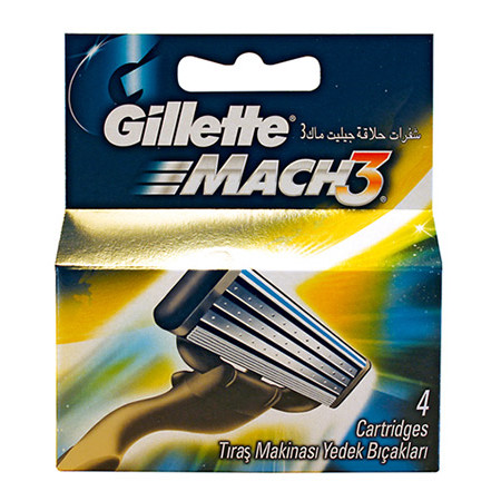 Barberblade Gillette Mach3 4 pk