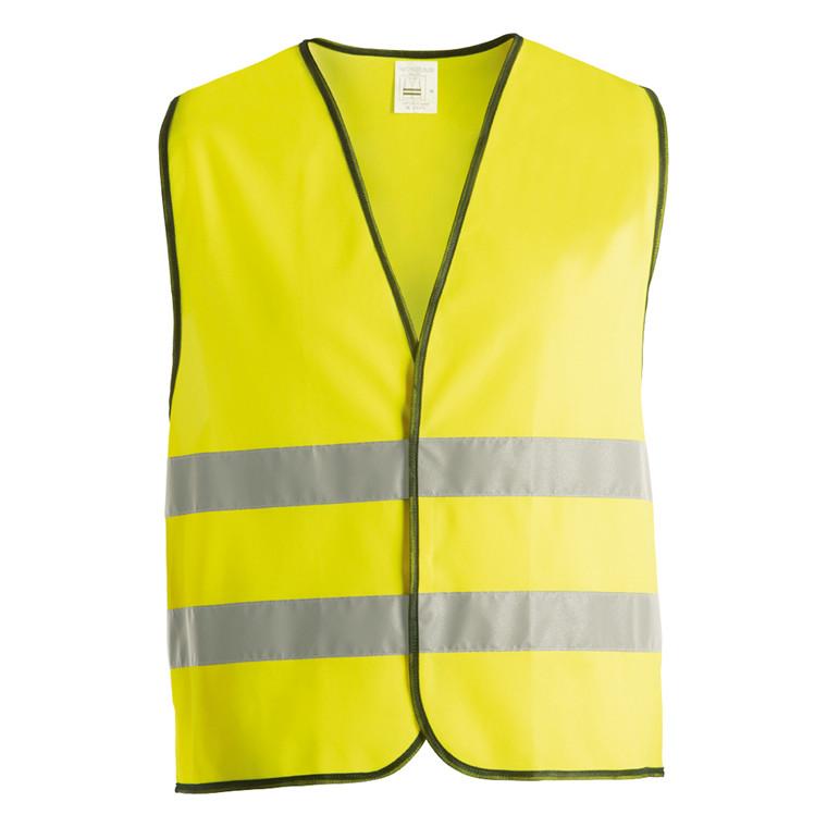 Sikkerhedsvest/overtræksvest gul L/XL