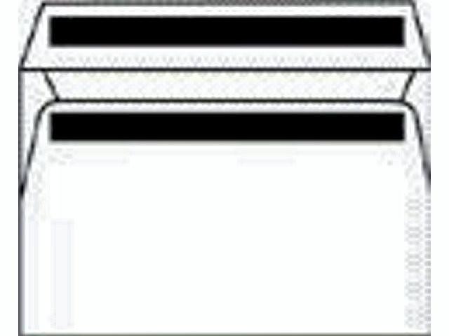 500 Stk Kuverter m/rude hvid 110x220mm M65 13323 DS 500stk/p
