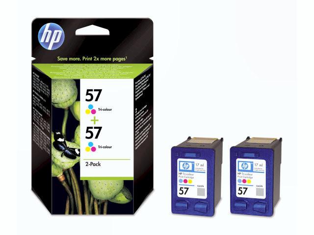 2 Stk Blækpatron HP C9503AE 2-pack color no. 57 2x17ml