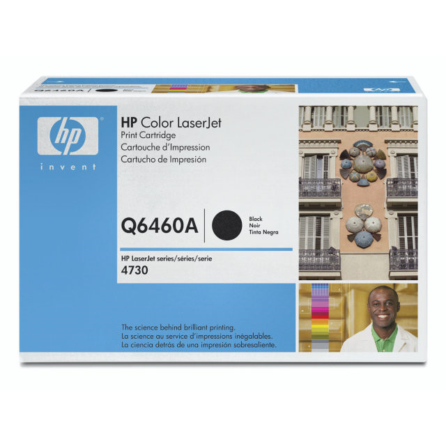 Lasertoner HP Q6460A sort Color LaserJet 4730