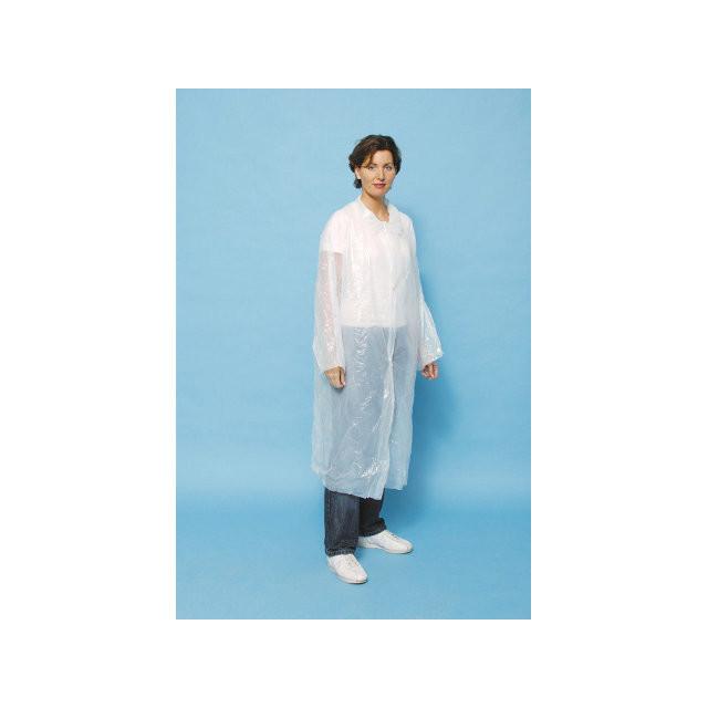 Regn-/besøgsjakke PE (15my) 10stk/pak One-size