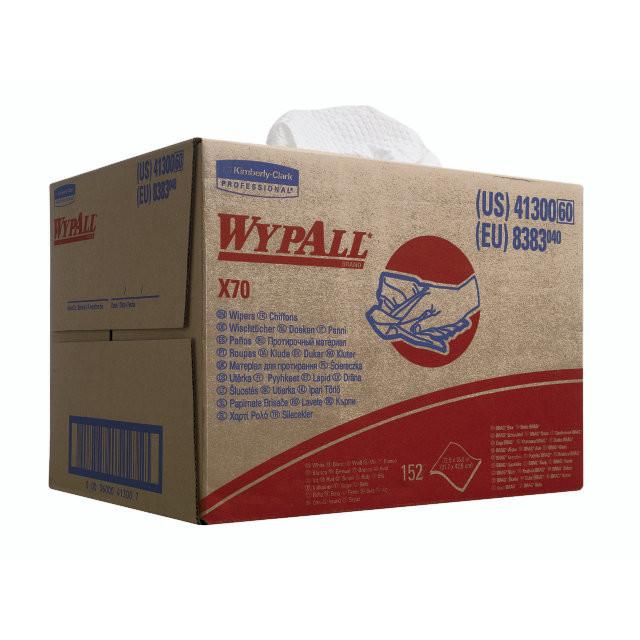 Aftørringsklude WypAll X70 hvid 150ark/kar 8383 Workhors