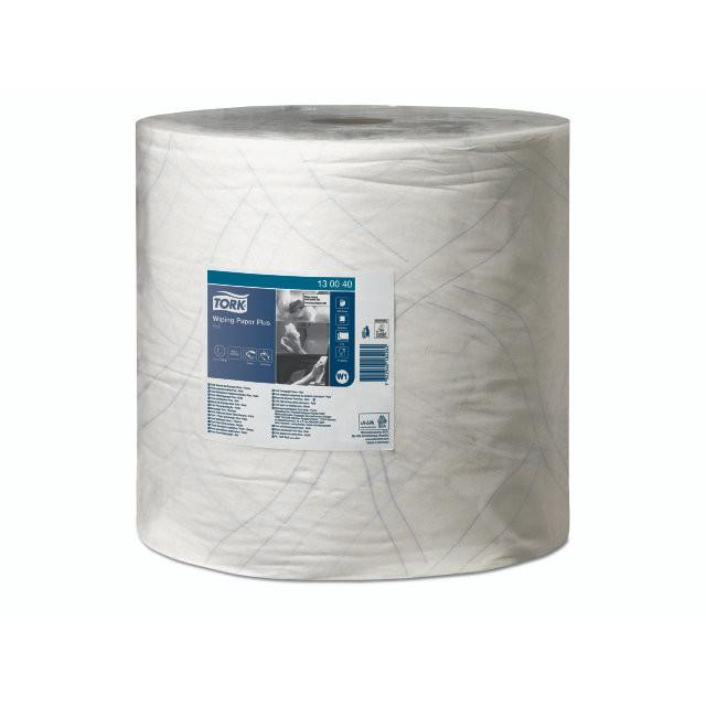 Aftørringspapir Tork Plus W1 420 2-lags hvid 510m 130040