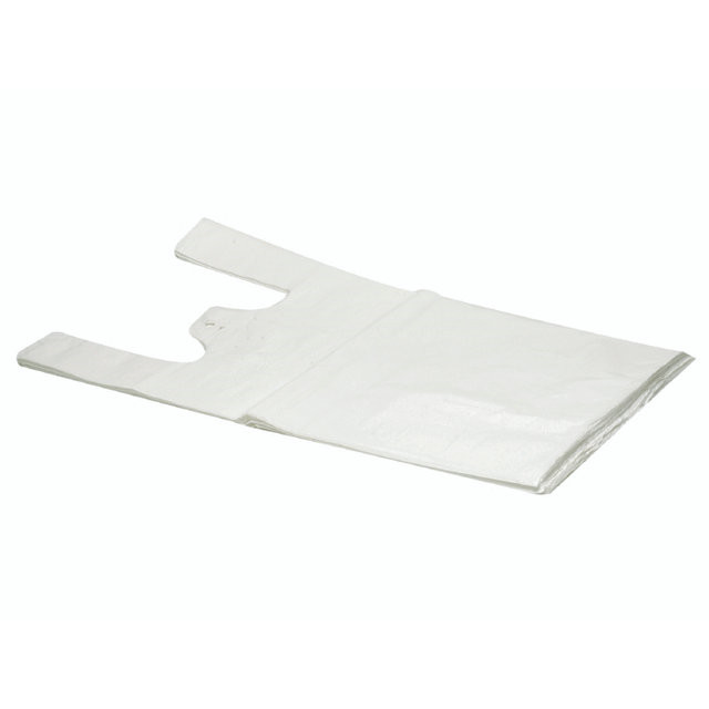 Bærepose HDPE undertrøje hvid 14my 280/70x500mm  1000stk/ka