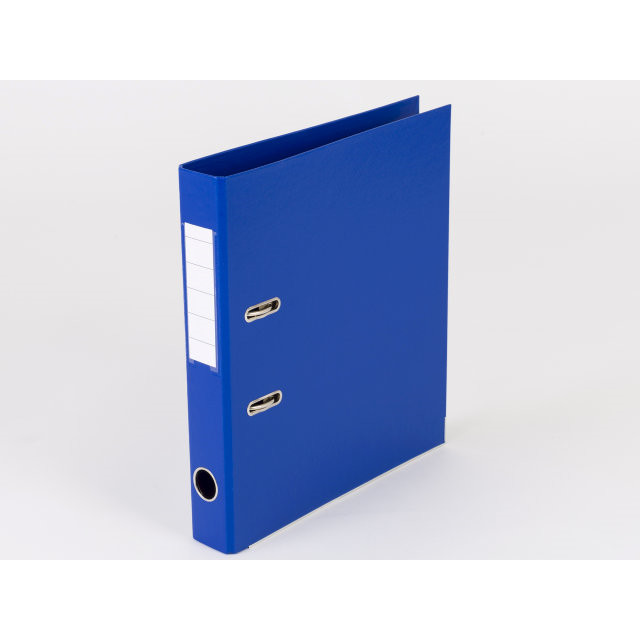 10 stk Brevordner Q-Line blå A4 metalskinne 50mm ryg