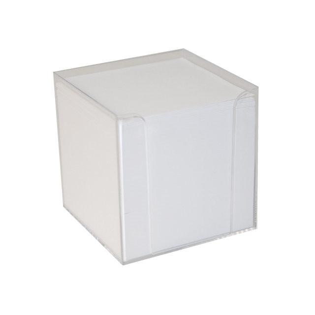 Kubus refill løse blade 1100ark/stk hvid 9x9x9 cm