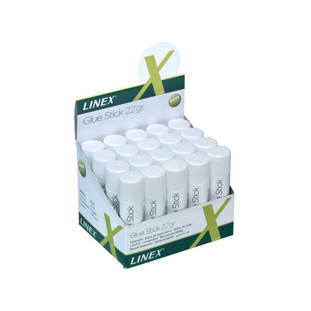 22 Gram Limstift Linex 22g t/papir og foto m.v.