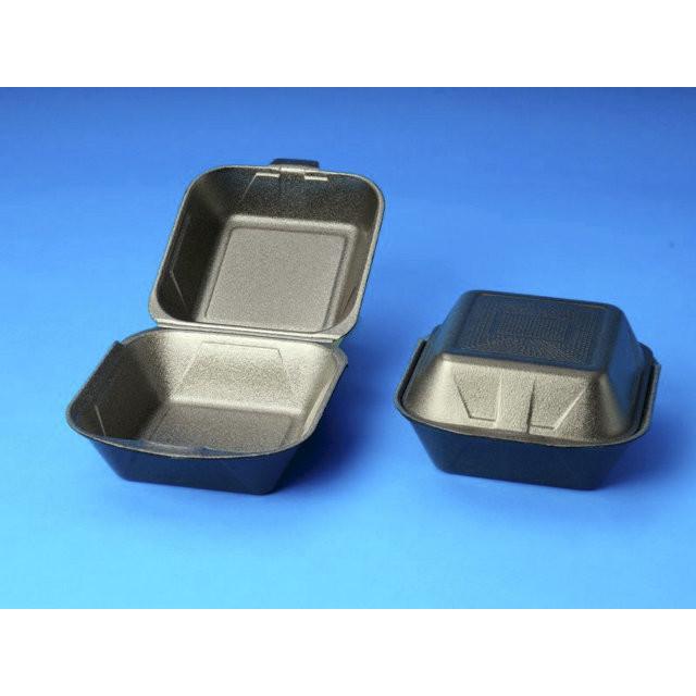 Burgeræske skum grå m/låg IP6 4x125stk/pak 155x155x80mm