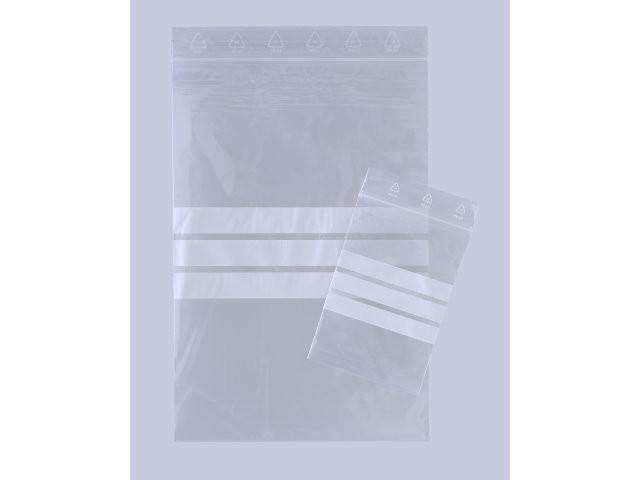1000 Stk Lynlåspose 150x220mm u/hul m/skrivefelt 1000stk/pak