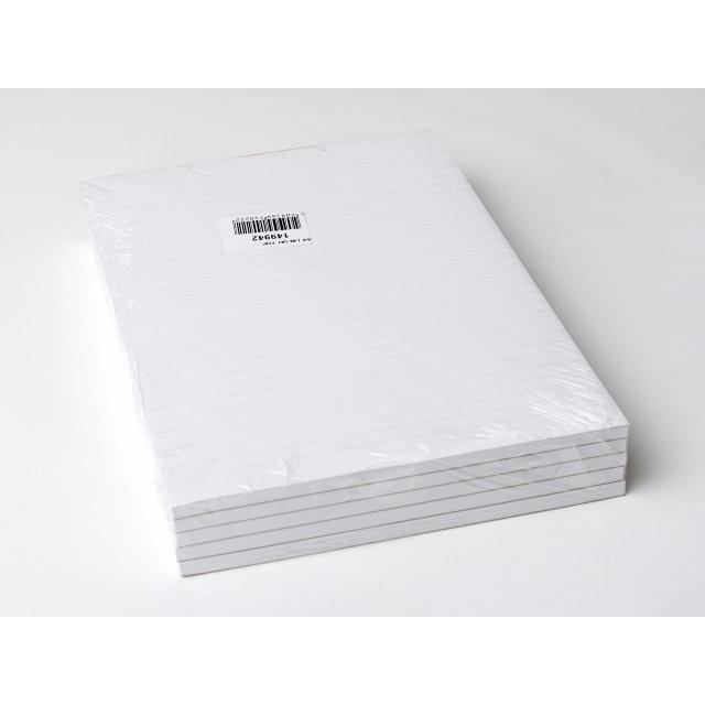 5 stk Standardblok u/huller lin. toplimet 60g hvid A4