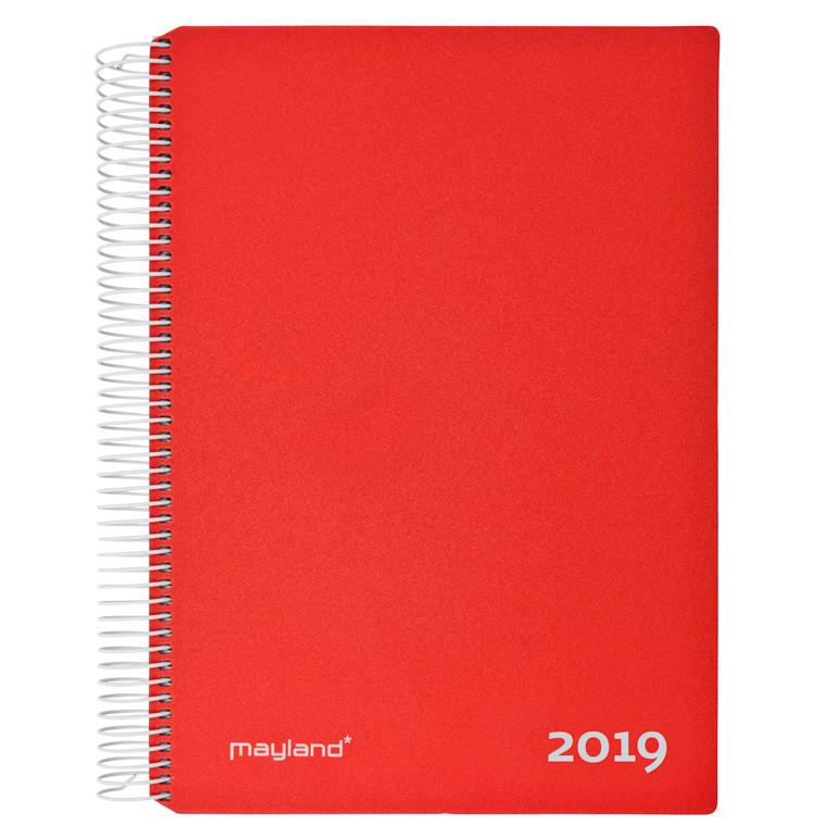 Timekalender m/spiral rød 17x23,5cm 19 2180 10