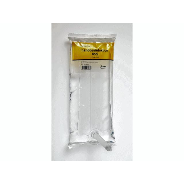 1 Liter 6 stk Hånddesinfektion flydende 85% Combiplum System