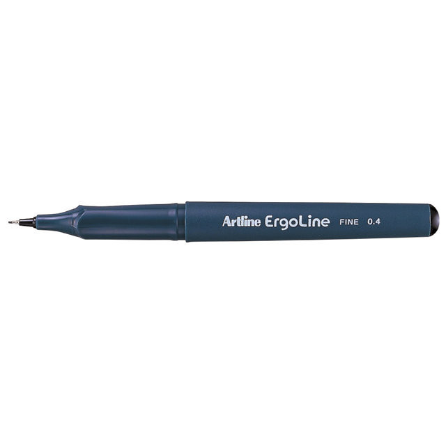 12 stk Fineliner Artline ERG3400 sort Ergoline 0,4mm