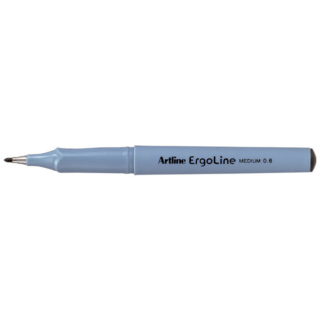 12 stk Fineliner Artline ERG3600 sort Ergoline 0,6mm