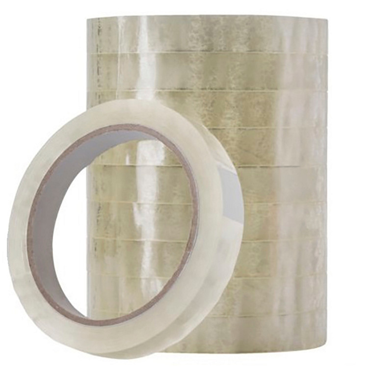 10 ruller Tape PP Q-Line klar 15mmx66m