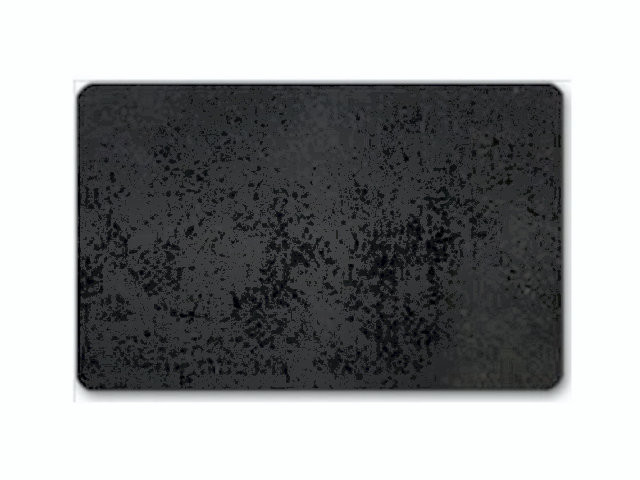 100 stk Plastkort mat sort standard 86x54x0,76mm