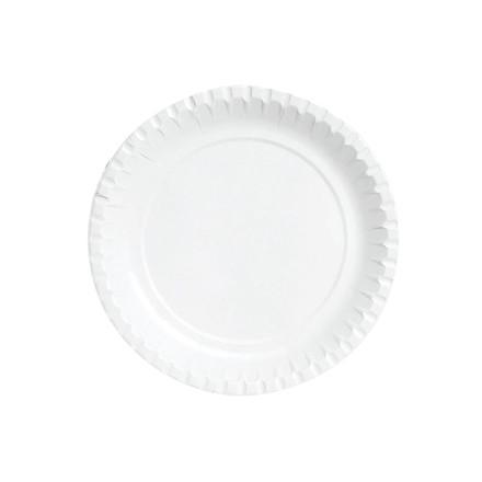 Tallerken pap hvid 23 cm 100 stk