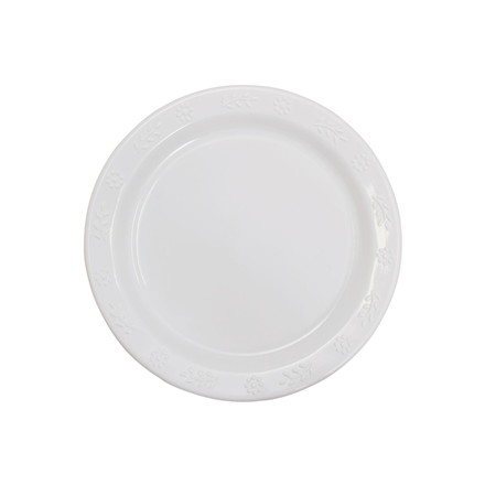 Plastiktallerken hvid 50 Stk 23 Cm