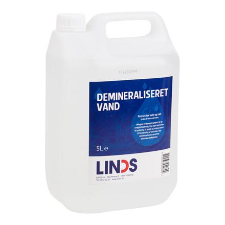 Demineraliseret vand LINDS 5 ltr