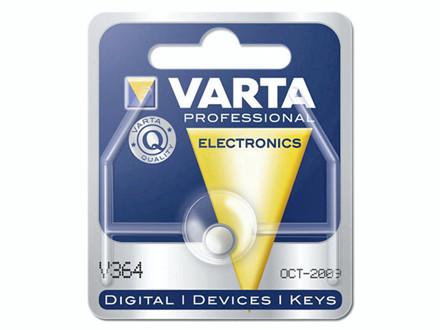 Batteri Varta ur V364 SR60 1,55V 20mAh 1stk/pak Hjd.2,15xØ6,