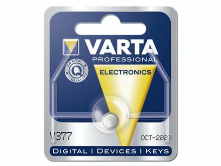 Batteri Varta ur V377 SR66 1,55V 27 mAh 1stk/pak Hjd.2,6xØ6,