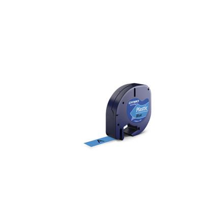 10 ruller Labeltape DYMO LetraTAG 12mmx4m blå plasttape