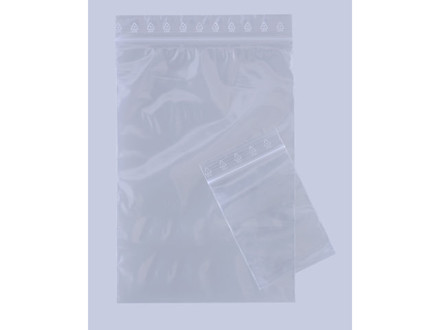 1000 Stk Lynlåspose 80x120mm u/hul u/skrivefelt 1000stk/pak
