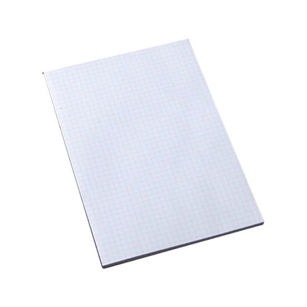 10 stk Standardblok u/huller kvadr. toplimet 60g hvid A5 100