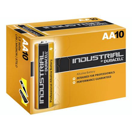 10 Stk Batteri Duracell Industrial AA 10stk/pak LR6 / MN1500
