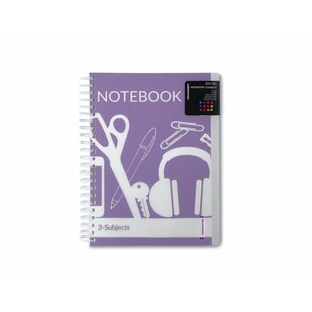 Notesbog 3-delt memo A5 Docusmart 120 blade ass. farver