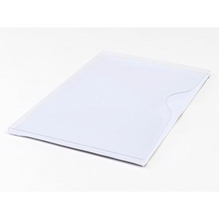10 Stk Magnetlomme A4 åben liggende hvid 1cm dyb 10st/pkt
