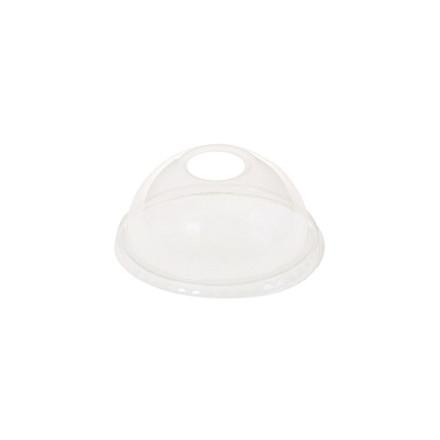 20 poser Låg kuppel med hul t/20cl glas PLA 50stk/ps