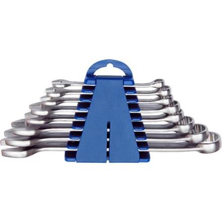 Ringgaffelnøglesæt med 8 nøgler 8-22 mm