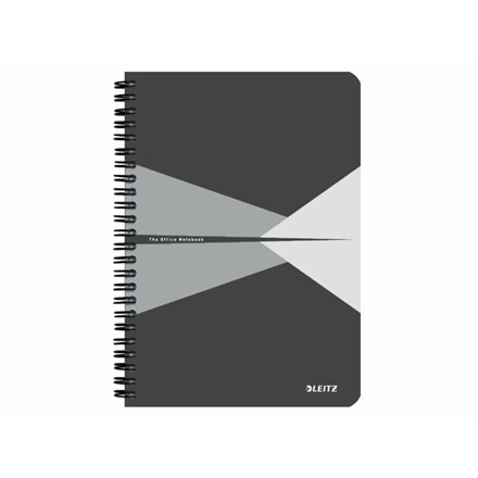 5 stk Notesblok Leitz Office karton grå A5 linjeret