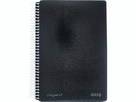 Spiralkalender hård PP sort 12x17cm 1dage/side 19 2100 00