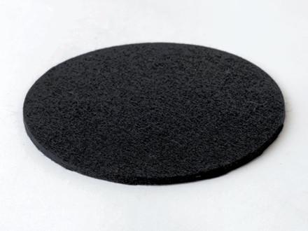 Raflefilt rund 2 stk/pak Sort 20,7 cm i dia.0,5 cm i højden.