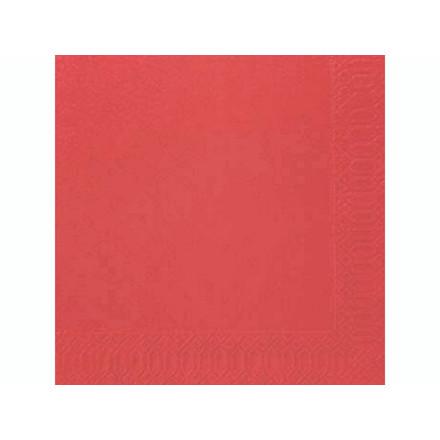 Servietter 2-lags Duni rød 40cm 2000stk/kar 16x125stk/kar