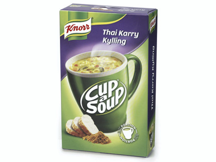 Suppe Cup-a-Soup Thai Karry Kylling 3x12x18g/kar