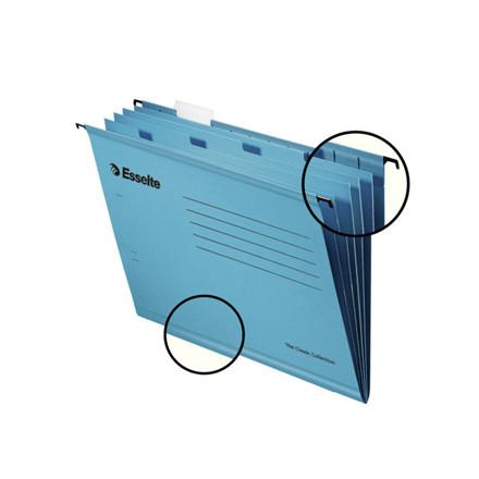 Hængemappe A4 Esselte Classic m/4 rum blå 10stk/pak