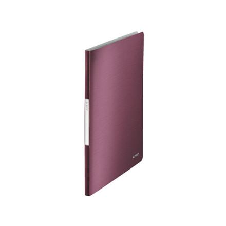 10 stk Displaybog Leitz Style PP 20 lommer rød
